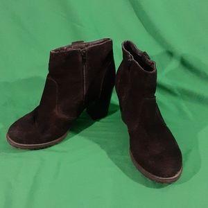 Lane bryant sz 10W black booties block heel
